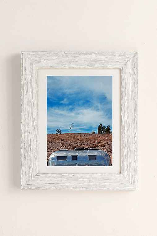 Carey Quinton Haider On The Road: Mt. Hood Oregon Art Print,WHITE BARNWOOD,30X40