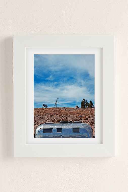 Carey Quinton Haider On The Road: Mt. Hood Oregon Art Print,WHITE MATTE FRAME,18X24