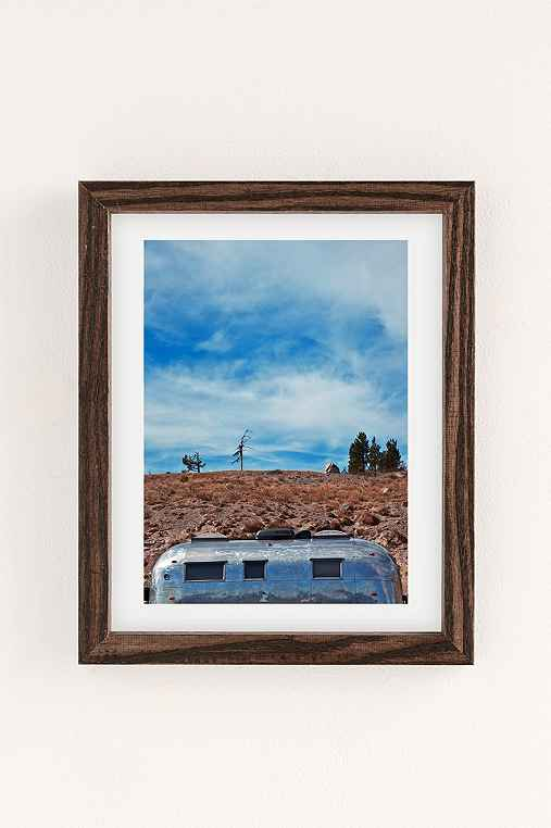 Carey Quinton Haider On The Road: Mt. Hood Oregon Art Print,WALNUT WOOD FRAME,8X10