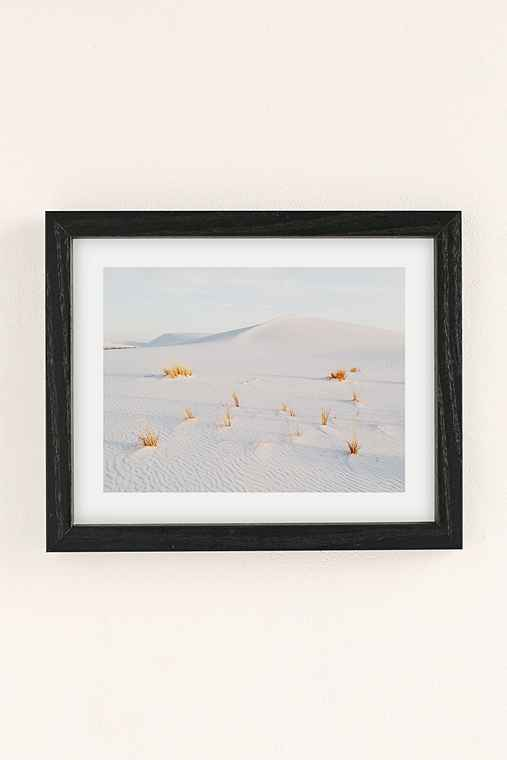 Kevin Russ White Sands Art Print,BLACK WOOD FRAME,18X24