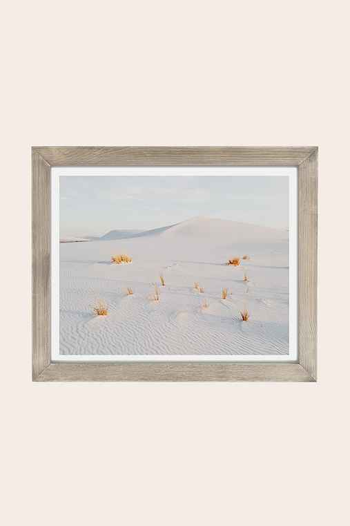 Kevin Russ White Sands Art Print,GREY BARNWOOD,8X10