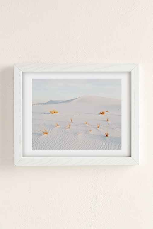 Kevin Russ White Sands Art Print,WHITE WOOD FRAME,18X24