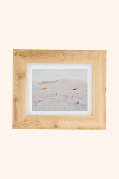 Kevin Russ White Sands Art Print,PINE,18X24