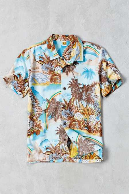 Hang Ten Tasty Vibes Short-Sleeve Button-Down Shirt