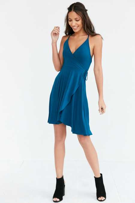 Kimchi Blue Strappy Back Faux Wrap Dress