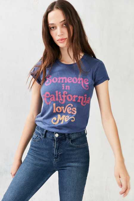 Junk Food Someone In California Loves Me Tee