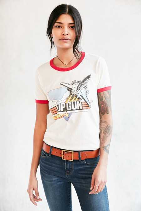 Junk Food Top Gun Ringer Tee