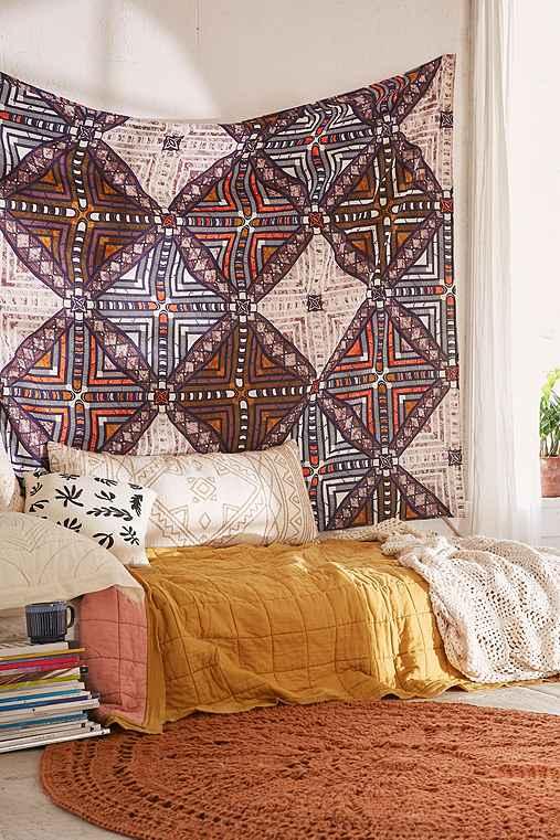 Kara Tiled Tapestry,VIOLET,ONE SIZE