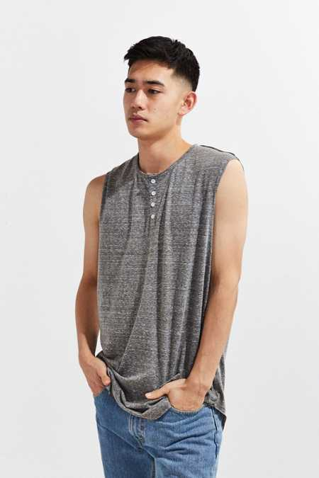 The Narrows Henley Muscle Tee