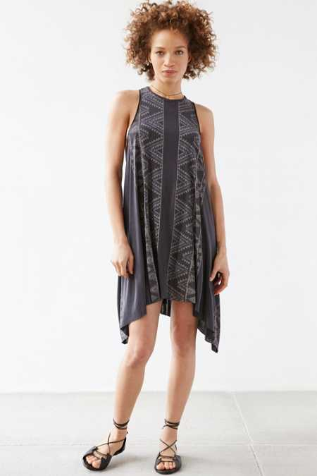 Ecote Joelle Engineered Print Swingy T-Shirt Dress