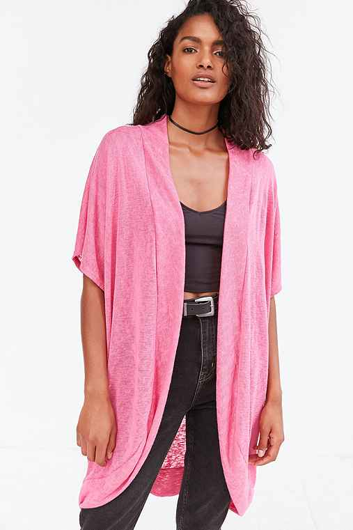 Silence + Noise Summer Cocoon Cardigan,PINK,M