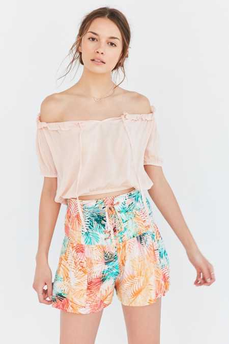 Somedays Lovin Palm Lace-Up Short