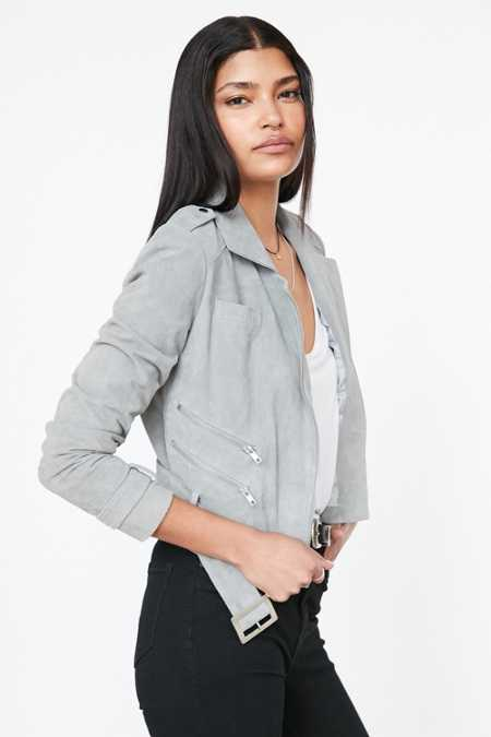 Silence + Noise Dusty Genuine Suede Biker Jacket