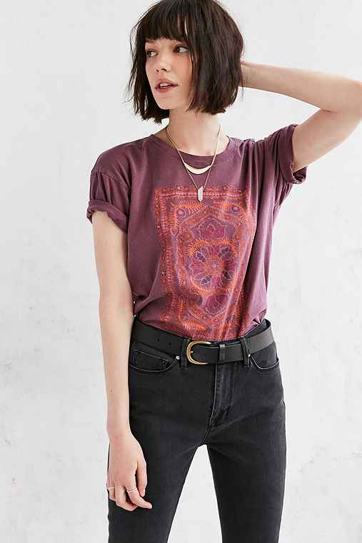 Truly Madly Deeply Floral Jewel Tee,PURPLE,XS