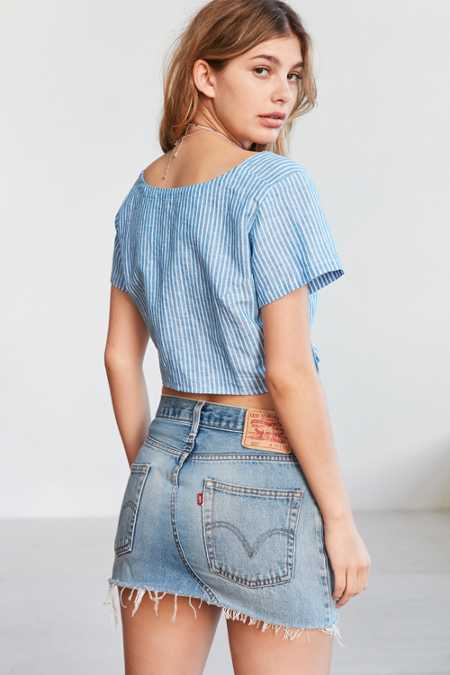 Urban Renewal Remade Denim Mini Skirt