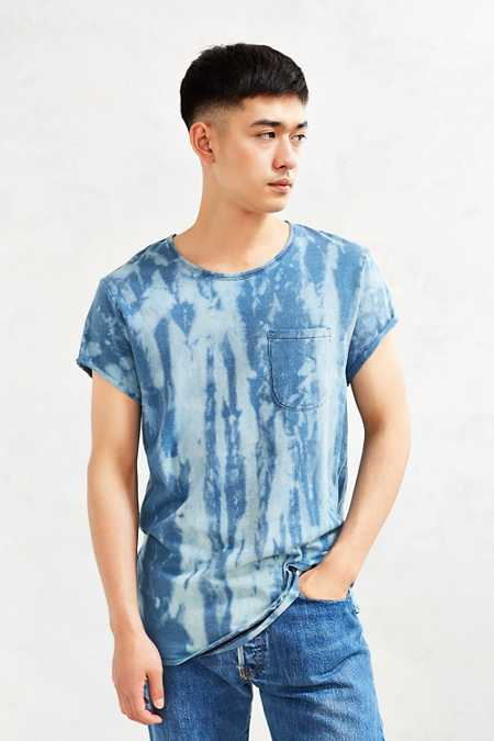 Feathers Chlorine Wash Roll-Sleeve Tee
