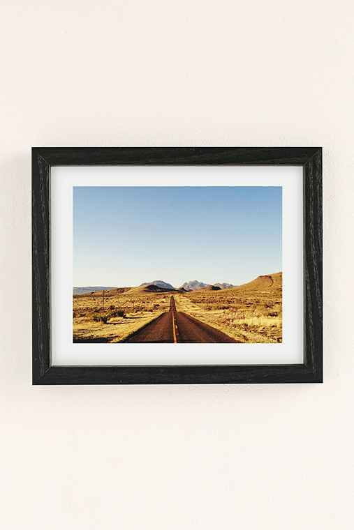 Kevin Russ Mountain Road Art Print,BLACK WOOD FRAME,8X10
