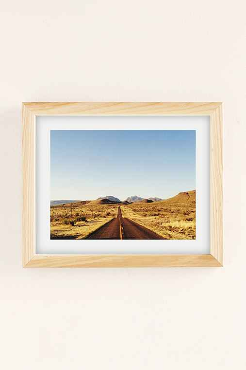 Kevin Russ Mountain Road Art Print,NATURAL WOOD FRAME,13X19