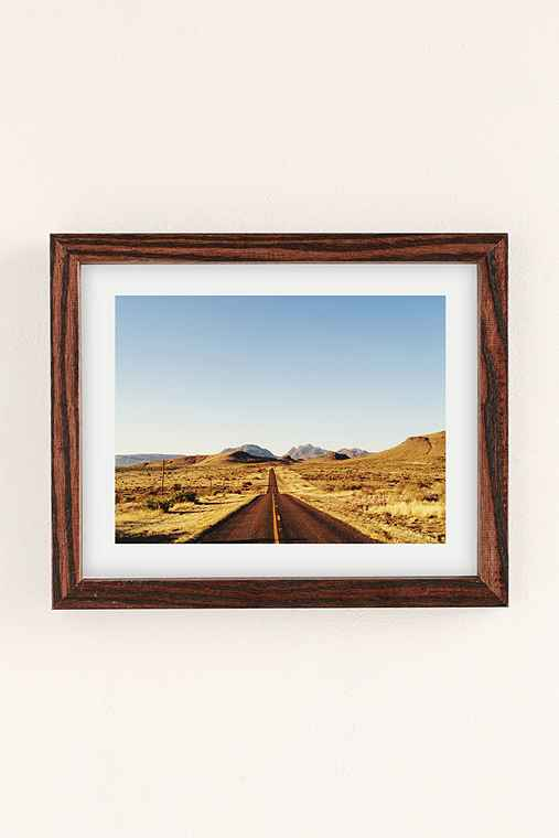 Kevin Russ Mountain Road Art Print,WALNUT WOOD FRAME,30X40