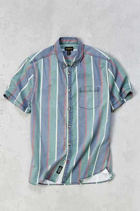 CPO '90s Wide Stripe Short-Sleeve Dress Shirt
