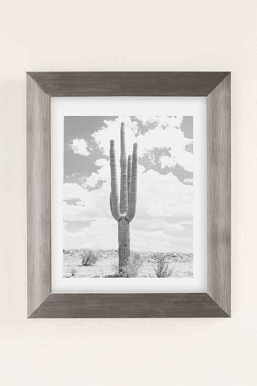 Wilder California Solo Saguaro Art Print,SILVER MATTE FRAME,8X10