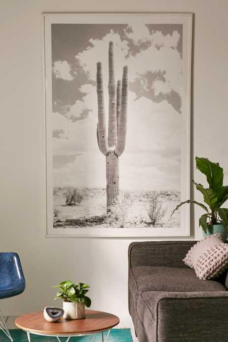 Wilder California Solo Saguaro Art Print