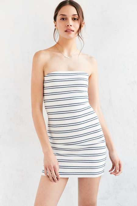 Silence + Noise Tootsie Striped Bodycon Mini Dress