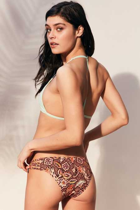 Out From Under Strappy Printed Bikini Bottom