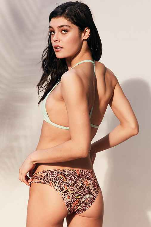 Out From Under Strappy Printed Bikini Bottom,PEACH,M