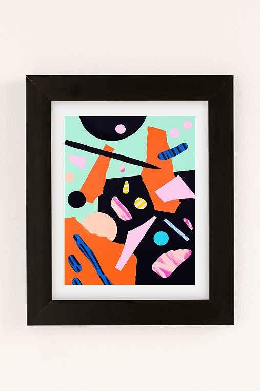 Cocolia Studio An Abstract Day Art Print,BLACK MATTE FRAME,30X40