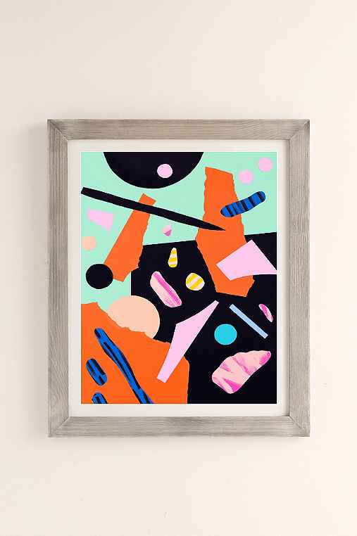 Cocolia Studio An Abstract Day Art Print,GREY BARNWOOD,40X60