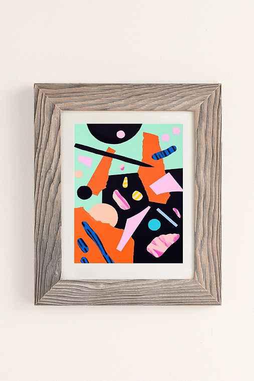 Cocolia Studio An Abstract Day Art Print,BUFF BARNWOOD,40X60