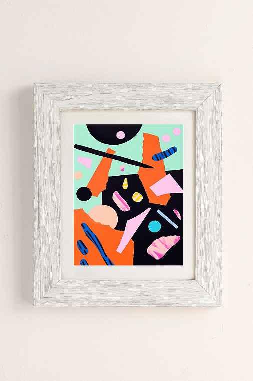 Cocolia Studio An Abstract Day Art Print,WHITE BARNWOOD,40X60