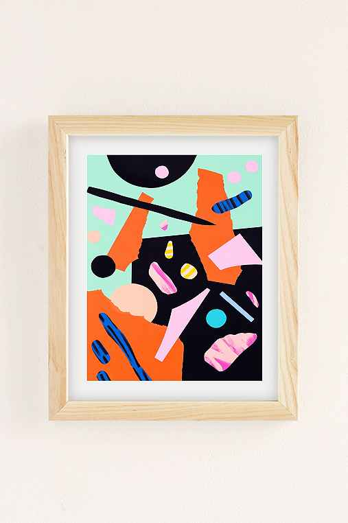 Cocolia Studio An Abstract Day Art Print,NATURAL WOOD FRAME,8X10