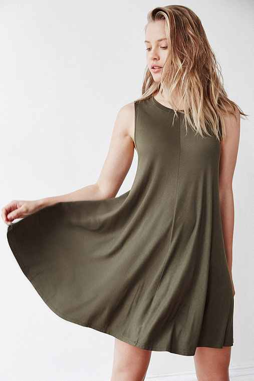 Silence + Noise Swingy Tank Dress,GREEN,M