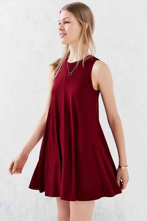 Silence + Noise Swingy Tank Dress,MAROON,XS