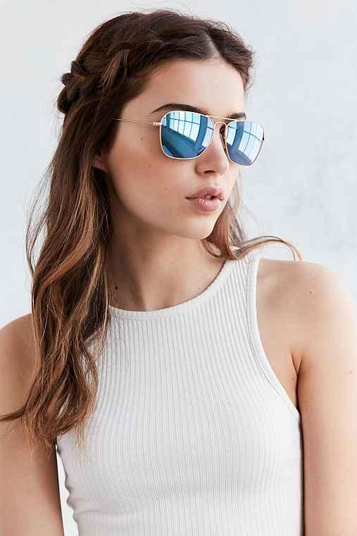 Ray-Ban Caravan Flash Aviator Sunglasses,GOLD,ONE SIZE