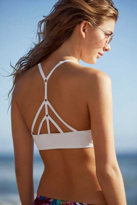 Out From Under High Neck Solid Bikini Top