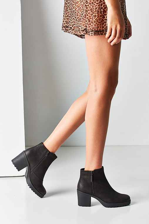 Vagabond Nubuck Grace Double Zip Ankle Boot,BLACK,US 7/EU 37