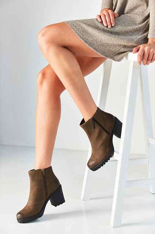 Vagabond Nubuck Grace Double Zip Ankle Boot,DARK GREEN,US 6/EU 36