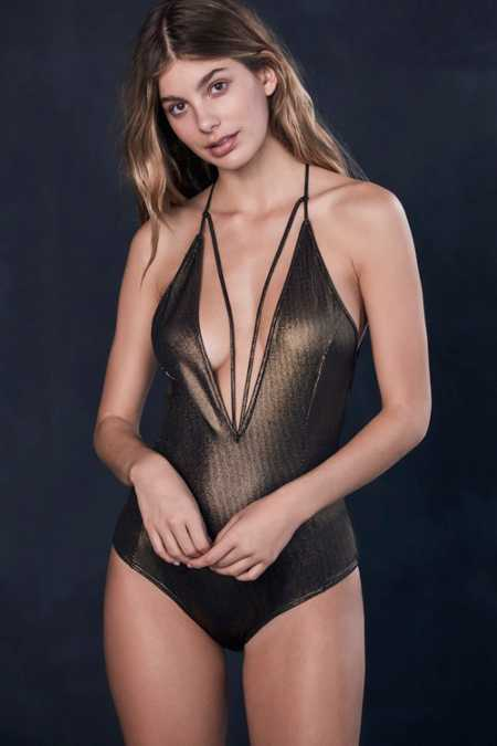 Out From Under Metallic Vixen Bodysuit