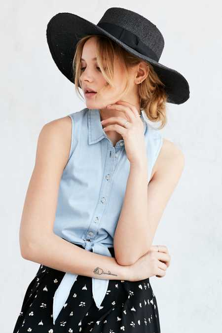 BDG Straw Floppy Panama Hat