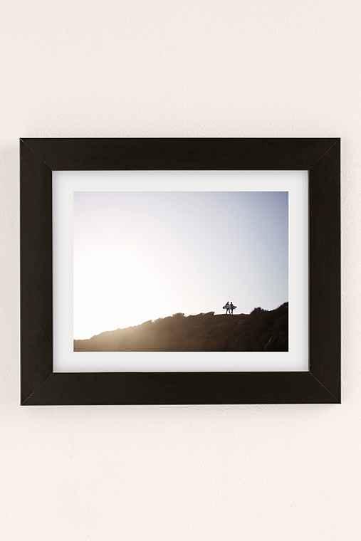 Max Wanger Surfers Art Print,BLACK MATTE FRAME,8X10