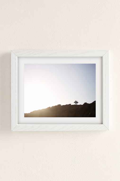 Max Wanger Surfers Art Print,WHITE WOOD FRAME,13X19