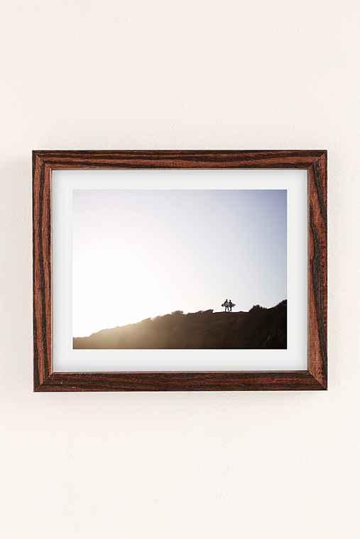 Max Wanger Surfers Art Print,WALNUT WOOD FRAME,8X10