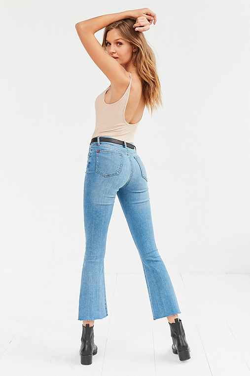 BDG High-Rise Crop Kick Flare Jean - Light Blue,LIGHT BLUE,25