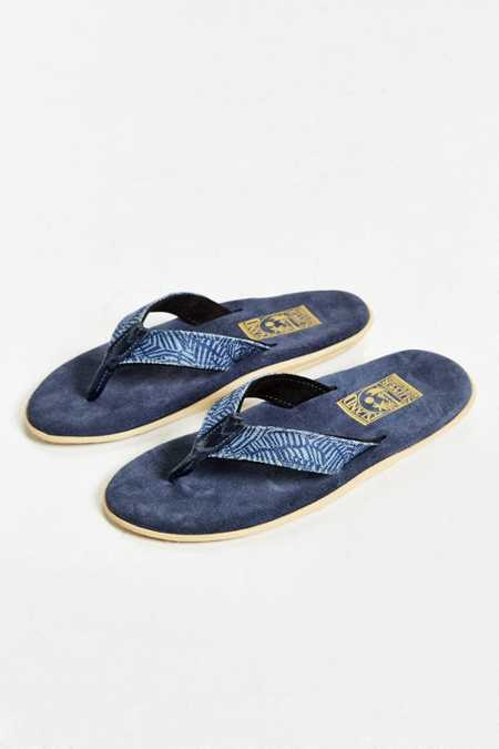 Island Slipper Suede Denim Flip-Flop