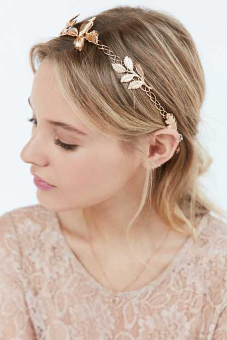 Metal Garland Tie-Back Headband