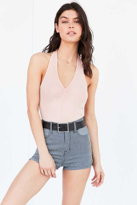 Out From Under Kasey Ribbed Halter Top