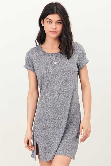 Silence + Noise Thigh-Slit T-Shirt Dress